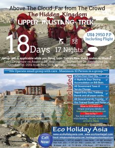 promotion upper mustang 2014 -Eco Holiday Asia